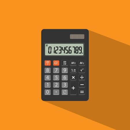 addition symbol: Electronic calculator vector.