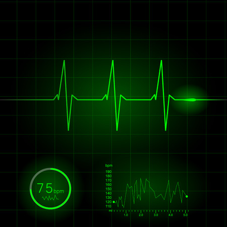 cardiogram: Heart cardiogram illustration Illustration