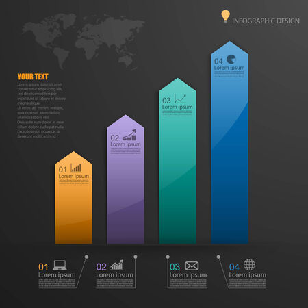 graphic presentation: Infographic ,vector Illustration