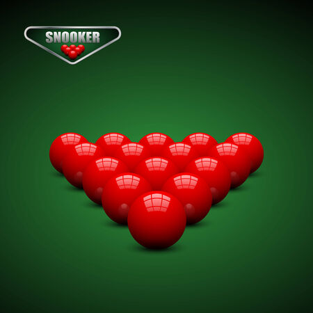 Snooker ball on snooker table.vector Vector