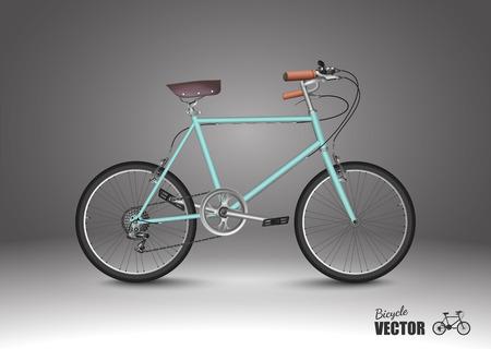 fork road: bicicleta, vector Vectores