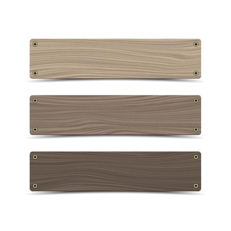 Panneaux de signalisation en bois. Vecteur