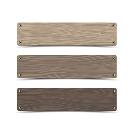 Wooden sign boards. Vector