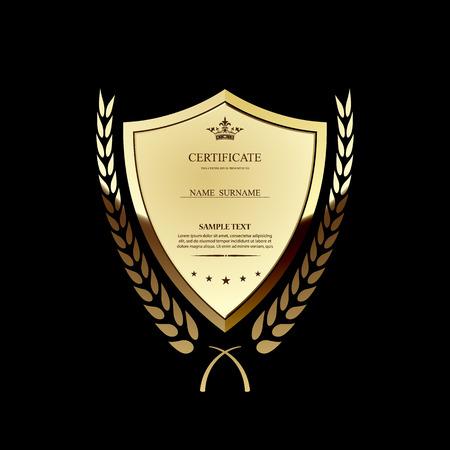 guilloche pattern: Vector certificate template. Illustration