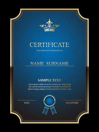 stocks: Vector certificate template. Illustration