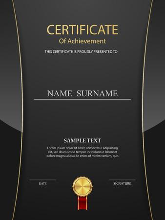Vecteur modèle de certificat. Vecteurs