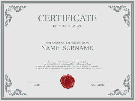 Vector certificate template. 免版税图像 - 35669732
