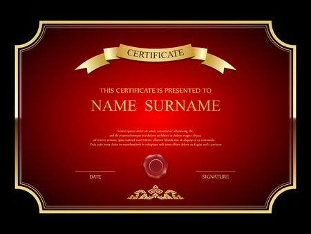 award ribbon: Vector certificate template. Illustration