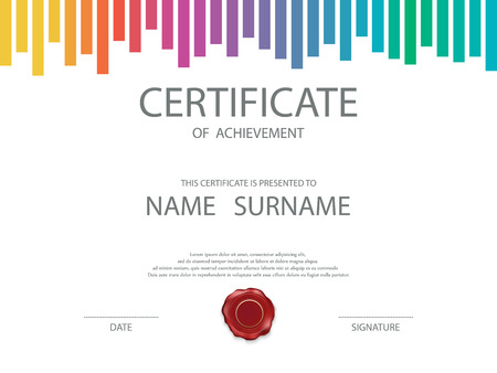 certificate icon: Vector certificate template. Illustration