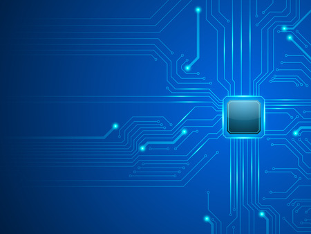 vector cpu computer technology, electronic concept. Illustration