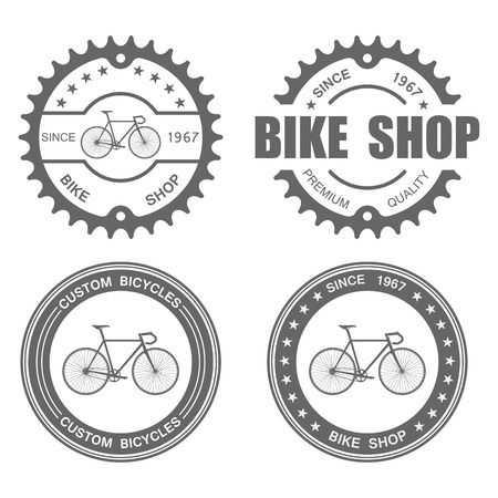 bicycles: Bicycle Label Set Template.vector