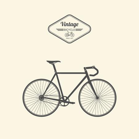 bicicleta retro: Bicycle.vector Vintage Vectores