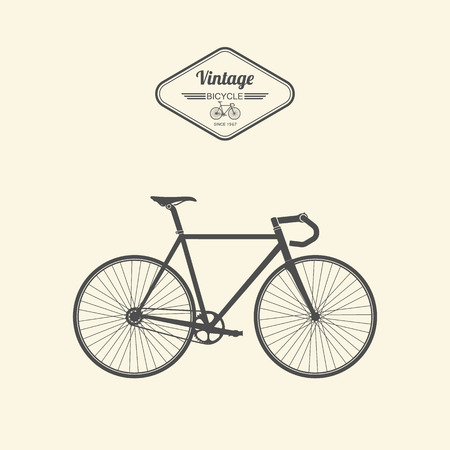 road bike: Vintage bicycle.vector Illustration