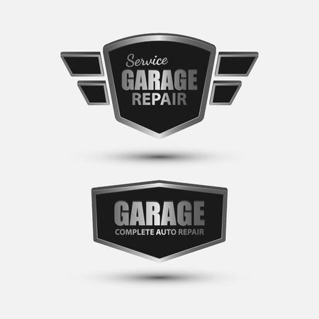 carro caricatura: Garaje vintage etiqueta retro design.vector