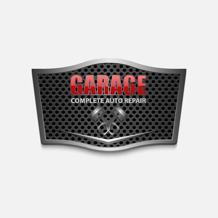 repair shop: Vintage garage retro label design.vector