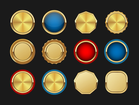 seal of approval: Golden labels.vector