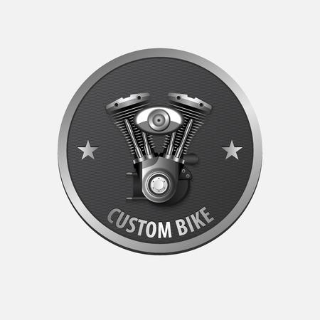 Vintage custom bike retro label design.vector Vector