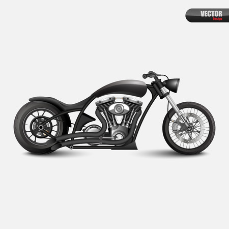 cruiser bike: Vintage motorcycle.vector