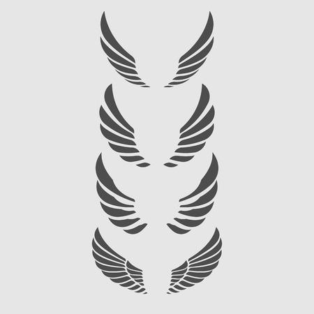 adler silhouette: Fl�gel-Vektor-Set.