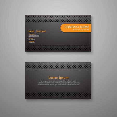 Business card template.vector Illustration