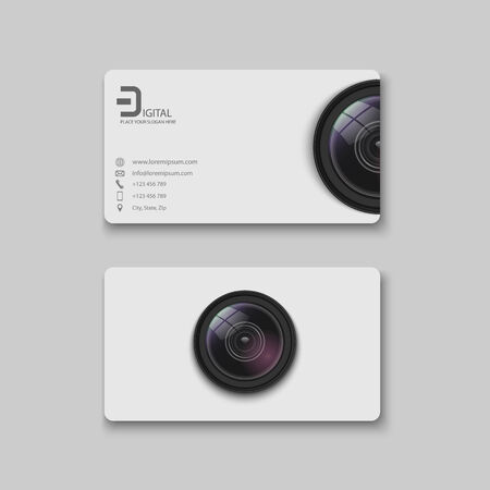 Business card template.vector Vector