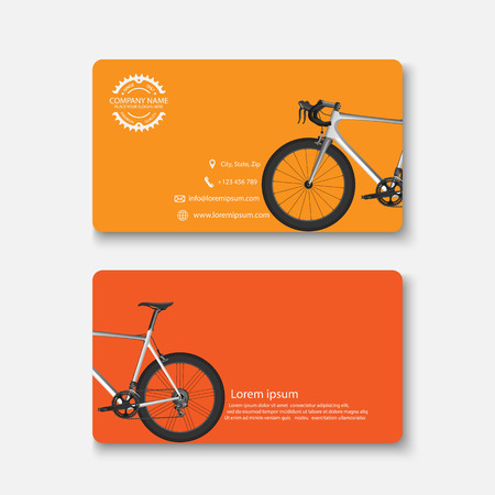 business card: Business card template.vector Illustration