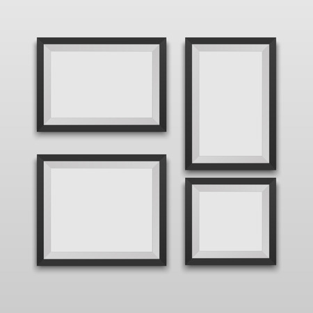 silver picture frame: Vector Picture Frames Illustration