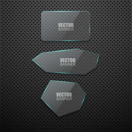 Vector glass banners.