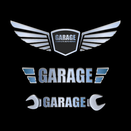 auto shop: Vintage garage retro label design.vector