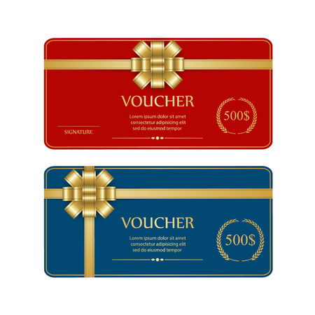 gift voucher:  Coupon template.