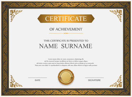 Stock Certificate Template Stock Photos & Pictures. Royalty Free