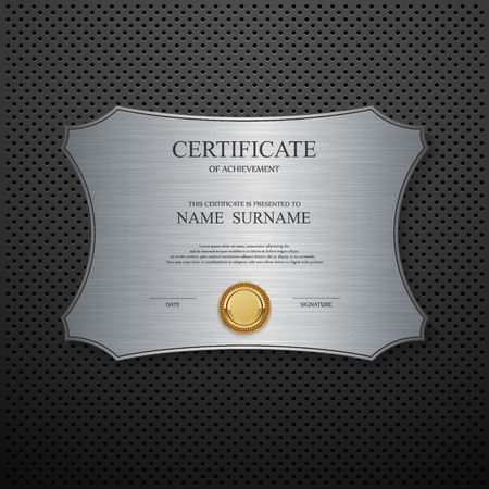 award: Vector certificate template. Illustration