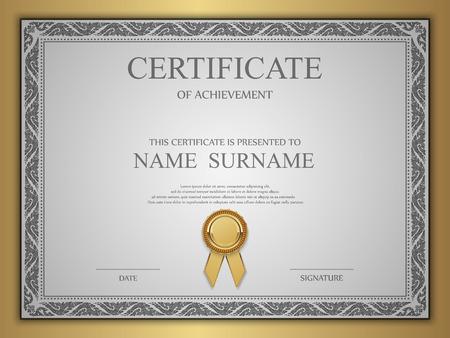 border frame: Vector certificate template. Illustration
