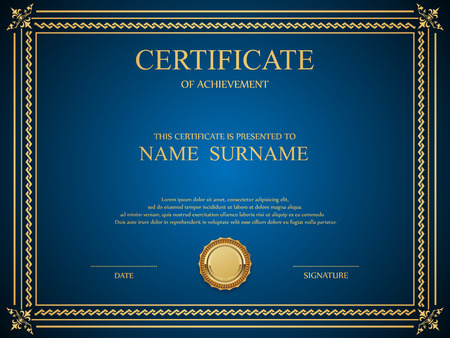 Vector certificate template. Ilustração