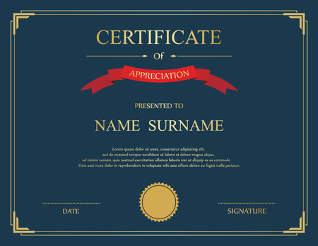 Award certificate stock photos royalty free business images vector certificate template illustration yadclub Choice Image