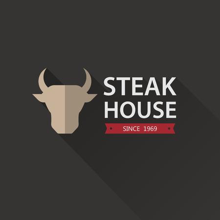 Steak House Poster. Vector illustration. Vector