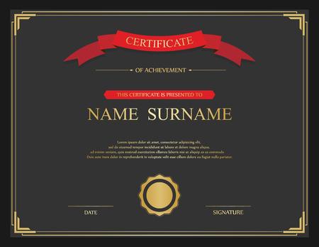 vintagern: Vector certificate template. Illustration