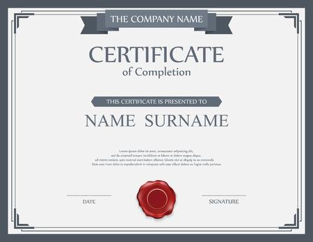 bordes decorativos: Plantilla de certificado vector.