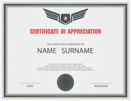 gift certificate: Vector certificate template. Illustration