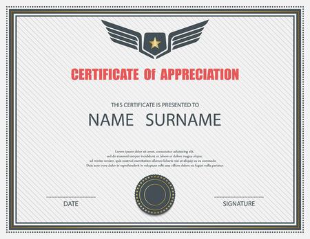 Vector Zertifikat Vorlage. Standard-Bild - 36995514