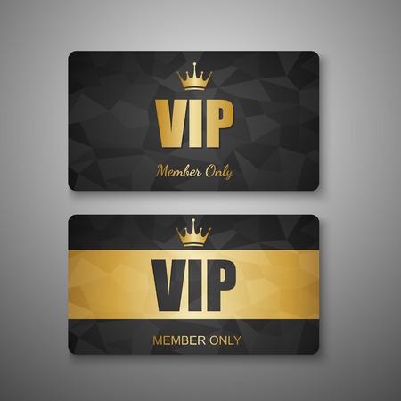 VIP card template,vector