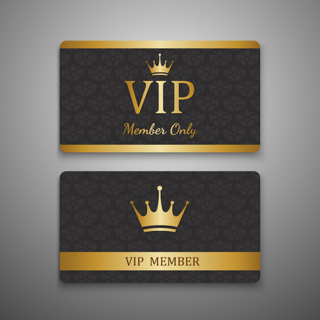 VIP card template,vector