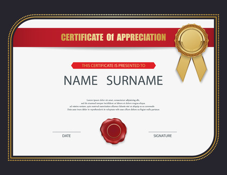 Vector certificate template. Ilustracja