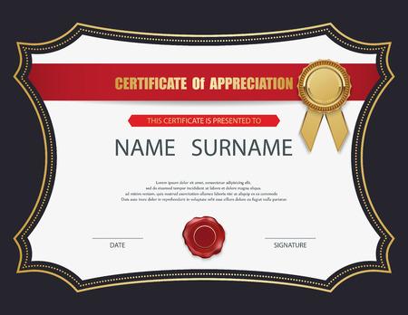 Vector certificate template. Vettoriali