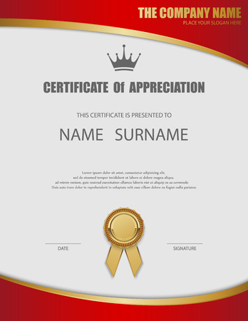 seals: Vector certificate template. Illustration