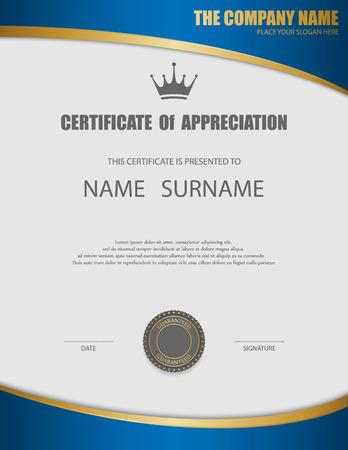 element template: Vector certificate template. Illustration