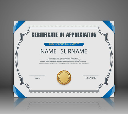 certificate border: Vector certificate template. Illustration
