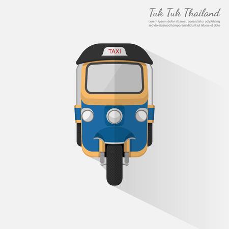 Thailand.vector ではトゥクトゥク  イラスト・ベクター素材