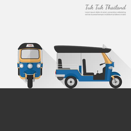 tuk: Tuk Tuk in Thailand.vector