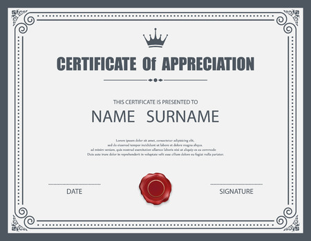 Vector Zertifikat Vorlage. Standard-Bild - 38901511